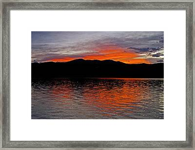 Sunset At Carter Lake Co Framed Print by James Steele