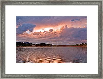 Sunset At Carter Lake Colorado Framed Print by James Steele