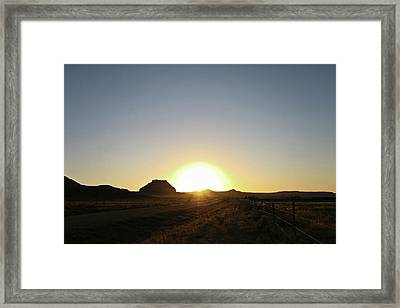 Sunset At Castle Butte Sk Framed Print