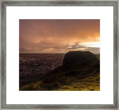 Sunset At Cavehill Framed Print