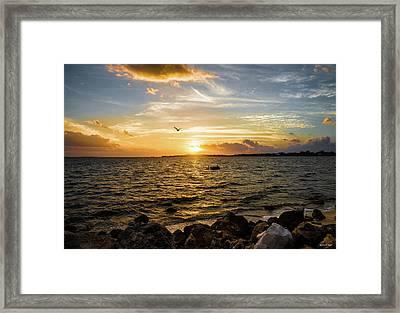Sunset At Cedar Key Framed Print