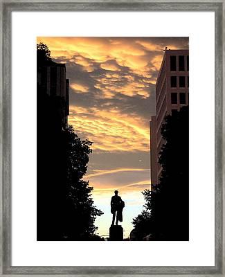 Sunset At Christchurch Framed Print
