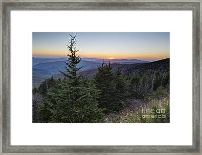 Sunset At Clingmans Dome Framed Print