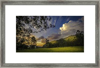 Sunset At Cocora Framed Print