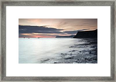 Sunset At Compton Bay Framed Print
