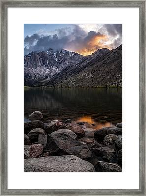 Sunset At Convict Lake Framed Print
