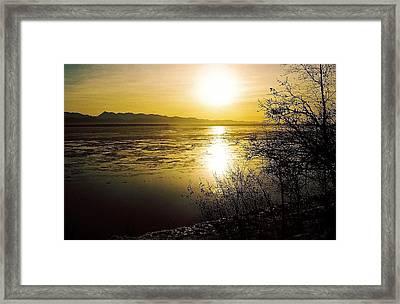 Sunset At Cook Inlet - Alaska Framed Print