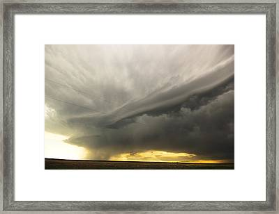 Sunset At Dalhart Texas Framed Print