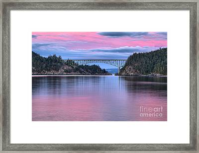 Sunset At Deception Pass Framed Print
