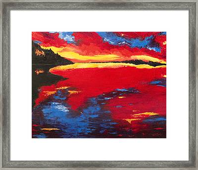 Sunset At Degray Framed Print by Beth Lenderman