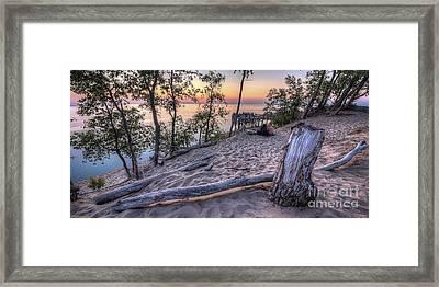 Sunset At Dunes Framed Print