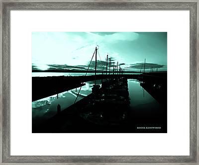 Sunset At Edmonds Washington Boat Marina 2 Framed Print by Eddie Eastwood
