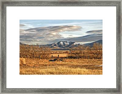 Sunset At Elk Mountain Wy Framed Print