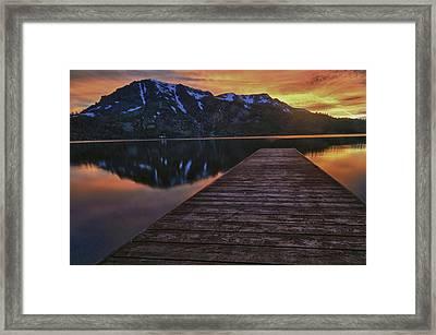 Sunset At Fallen Leaf Lake Framed Print
