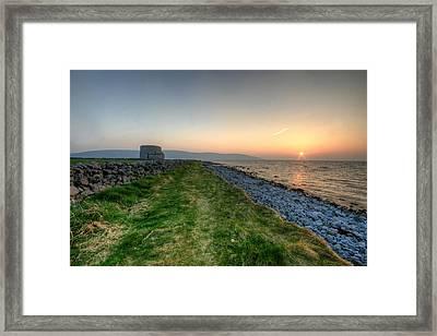 Sunset At Finavarra Framed Print by John Quinn