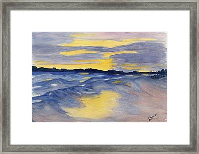 Framed Print featuring the painting Sunset At Fripp by Joan Zepf