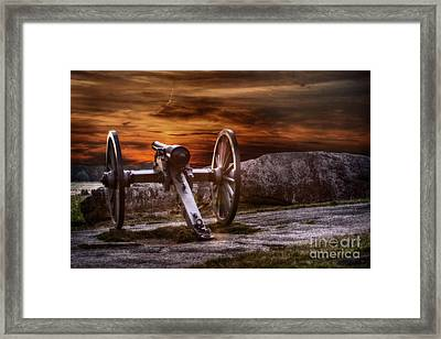 Sunset At Gettysburg Framed Print
