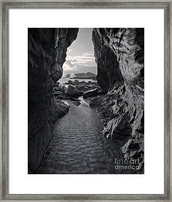 Sunset At Godrevy Lighthouse Framed Print by Royce Howland