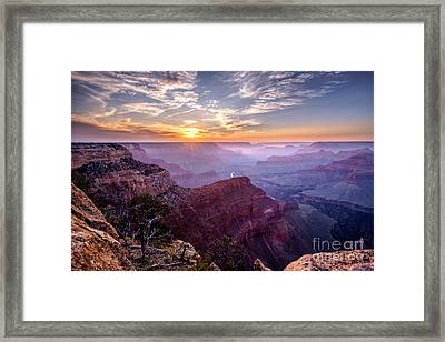Sunset At Grand Canyon Framed Print
