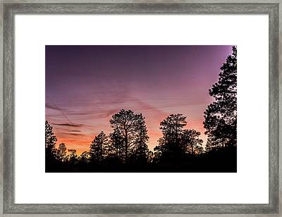 Sunset At Grand Canyon Framed Print by Morris Finkelstein
