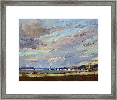 Sunset At Gratwick Waterfront Park Framed Print
