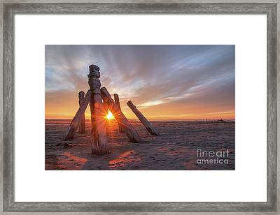 Framed Print featuring the photograph Sunset At Great Salt Lake by Spencer Baugh
