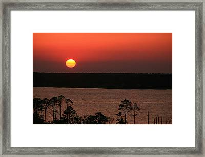 Sunset At Gulfshores Framed Print by James Jones