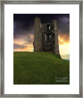 Sunset At Hadleigh Castle Framed Print