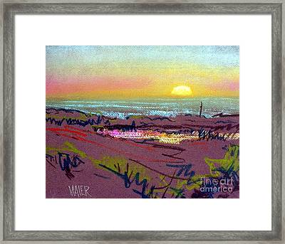 Sunset At Half Moon Bay Framed Print by Donald Maier