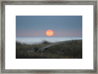 Sunset At Halfmoon Bay Framed Print