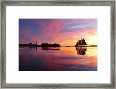Sunset At Head Harbor Framed Print