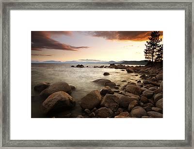Sunset At Hidden Beach Framed Print