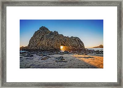 Sunset At Hole In The Rock Framed Print by James Hammond