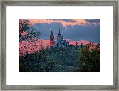 Framed Print featuring the photograph Sunset At Holy Hill by Susan Rissi Tregoning