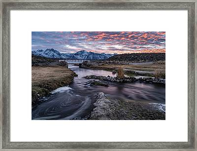 Sunset At Hot Creek Framed Print