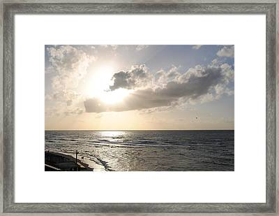 Sunset At Jaffa Beach 17 Framed Print by Isam Awad