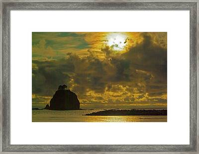 Framed Print featuring the photograph Sunset At Jones Island by Dale Stillman