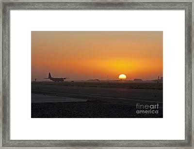 Sunset At Kandahar Framed Print by Tim Grams