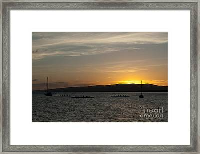Sunset At Kaunakakai Framed Print