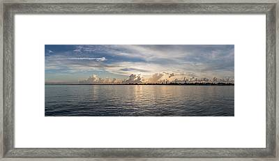 Sunset At Key Largo Framed Print
