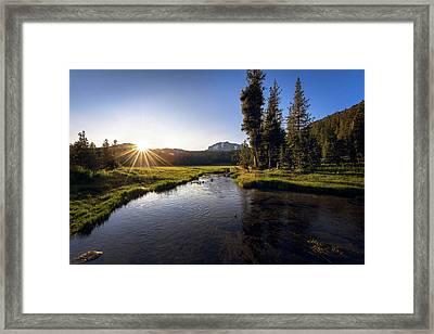 Sunset At Kings Creek In Lassen Volcanic National Framed Print