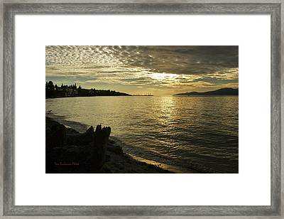 Sunset At Kitsilano Framed Print by Tom Buchanan