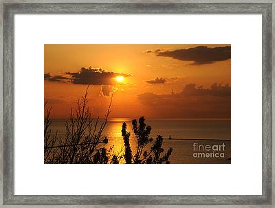 Sunset At Lake Huron Framed Print
