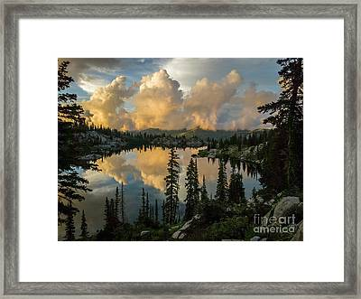 Framed Print featuring the photograph Sunset At Lake Mary by Spencer Baugh