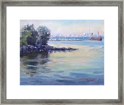 Sunset At Lake Ontario  Framed Print by Ylli Haruni
