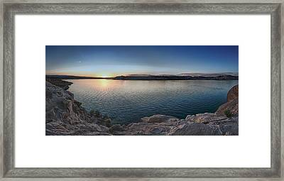 Sunset At Lake Powell Framed Print