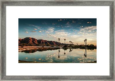 Sunset At Las Barancas Framed Print