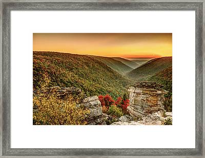 Lindy Point Sunset At Blackwater Falls State Park Framed Print by Robert Powell