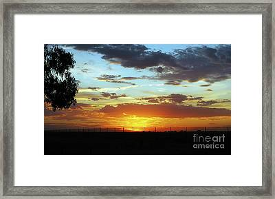 Sunset At Little River Victoria Framed Print