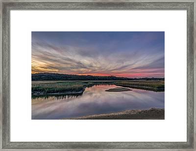 Sunset At Little Talbot State Park Framed Print